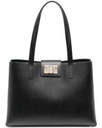 Furla 1927 レザーハンドバッグ - ブラック