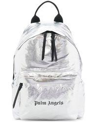 Palm Angels ロゴ バックパック - メタリック