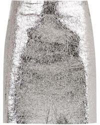 Egrey - Metallic Leather Skirt - Lyst