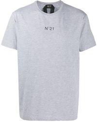 N°21 ロゴ Tシャツ - グレー