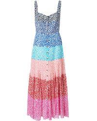 Saloni カラーブロック ドレス - ブルー