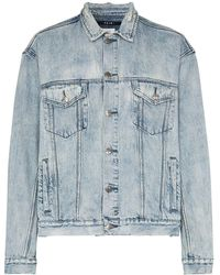 Ksubi Acid-wash Distressed Denim Jacket - Blue