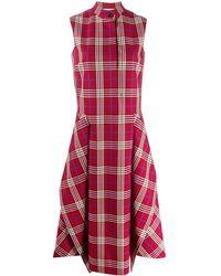 Mulberry Arya チェック ドレス - レッド