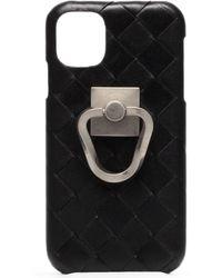 Bottega Veneta Cover iPhone 11 Intrecciato - Nero