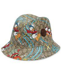 Gucci Fedora Duck Supreme X Disney Donald - Multicolore