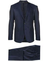 Tonello スリムフィット スーツ - ブルー