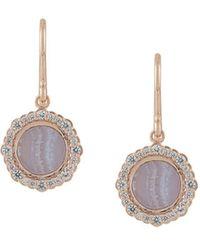 Astley Clarke Lace Agate Luna Drop Earrings - Металлик