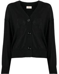 Altea V-neck Cardigan - Black