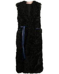 Marni Длинный Жилет С V-образным Вырезом - Черный
