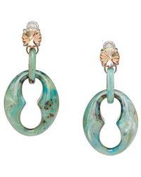 304768c70715 Prada - Plexiglass Drop Earrings - Lyst