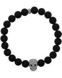 Northskull Kristallen Schedel Armband - Zwart