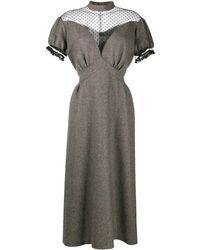 Maison Margiela Платье С Прозрачной Вставкой - Коричневый