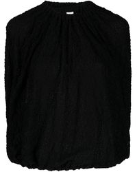 Jil Sander ドレープ ブラウス - ブラック