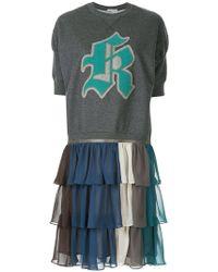 Kolor - Contrast Sweatshirt Dress - Lyst