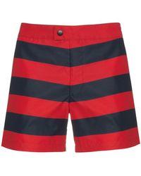 Jil Sander Striped Swim Shorts - Blue