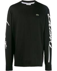 Lacoste L!ive ロゴ スウェットシャツ - ブラック