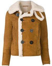 DSquared² Sheepskin shearling jacket - Marrone
