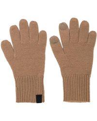 Rag & Bone Cashmere Logo Patch Gloves - Brown