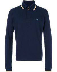 Vivienne Westwood ロングスリーブ ポロシャツ - ブルー