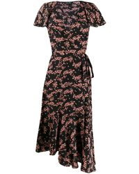 Markus Lupfer - Blossom Print Wrap Dress - Lyst