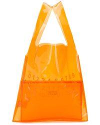 Maison Margiela Borsa tote con logo - Arancione