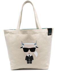 Karl Lagerfeld Wendbarer Shopper - Mehrfarbig