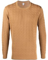 Eleventy Cable Knit Sweater - Brown