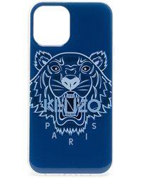 KENZO Чехол Для Iphone 12 Pro Max С Принтом Tiger - Синий