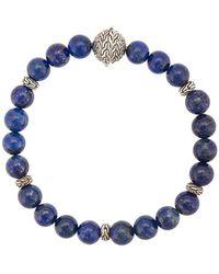 John Hardy Silver Classic Chain Lapis Lazuli Round Bead Bracelet - Grey
