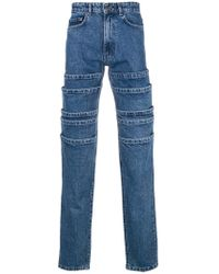 Y. Project - Deconstructed Straight Jeans - Lyst