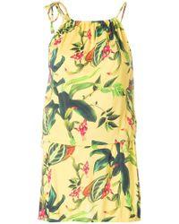 Cia.Marítima - Floral Print Mini Dress - Lyst