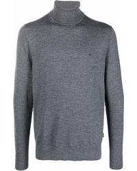 Calvin Klein Свитер С Высоким Воротником И Логотипом - Серый