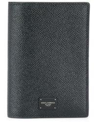 Dolce & Gabbana Étui à passeport à logo - Noir
