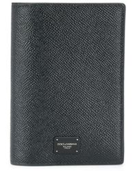 Dolce & Gabbana Logo Passport Holder - Black