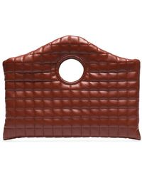 A.W.A.K.E. MODE Anouk Quilted Clutch - Brown