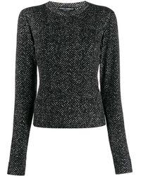 Dolce & Gabbana Свитер С Круглым Вырезом И Узором Шеврон - Черный