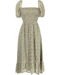 Reformation Платье Миди Meadow - Зеленый