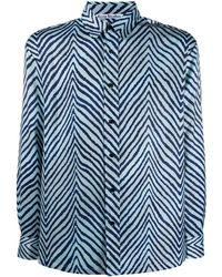 Acne Studios Overhemd Met Chevron Streep - Blauw