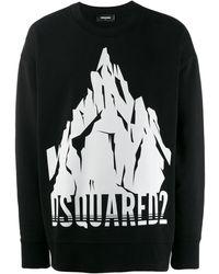 DSquared² Pullover mit Logo - Schwarz