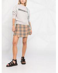 Victoria, Victoria Beckham Brooklyn Print Sweatshirt - Grey