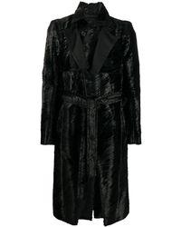 Ann Demeulemeester シングルコート - ブラック