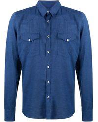Dell'Oglio Джинсовая Рубашка - Синий