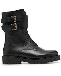 Twin Set Ботинки В Стиле Милитари С Пряжками - Черный