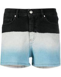 Zadig & Voltaire Short en jean Storm à effet délavé - Bleu
