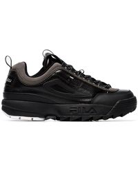 Liam Hodges - X Fila Black Disruptor Leather Sneakers - Lyst