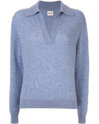 Khaite Pullover mit V-Ausschnitt - Blau