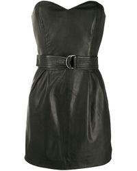 P.A.R.O.S.H. Платье Мини С Поясом - Черный
