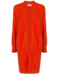 Coohem Open-front Longline Cardigan - Orange