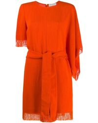 Emilio Pucci フリンジエッジ ドレス - オレンジ