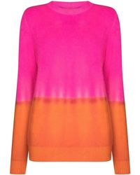 The Elder Statesman Two-tone Cashmere Knit Jumper - Pink